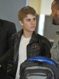 Singer Justin Bieber at LAX airport. Stock Photo
