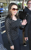 Singer Kylie Minogue at Sydney airport Royalty Free Stock Images