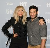 Lady Gaga and Director Chris Moukarbel - `Lady Gaga: Five Foot Two` Press Conference stock image