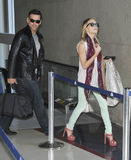 Singer Leanne Rhimes &husband Eddie Ciprian at LAX Stock Images