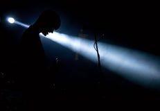 Singer in light Stock Image