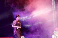 Singer lvshuangshuang sing pursue happiness Stock Image