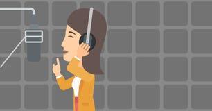 Singer making record. Stock Image