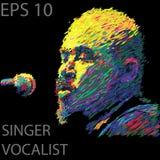 .Singer man character. Abstract vector illustration vector illustration