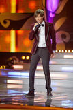 Singer Mark Tishman in musical program Royalty Free Stock Image