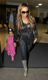 Singer Mel B with daughter at LAX airport Royalty Free Stock Images