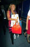 Singer Mel B at LAX airport Stock Photos