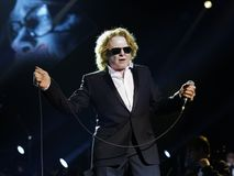 Singer  - Mick Hucknall. Singer Mick Hucknall, concert at the Schleyer Hall in AIDA Night oft the Proms. On December 18, 2012 Stock Image