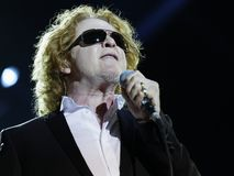 Singer  - Mick Hucknall. Singer Mick Hucknall, concert at the Schleyer Hall in AIDA Night oft the Proms. On December 18, 2012 Royalty Free Stock Image