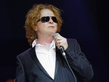 Singer  - Mick Hucknall. Singer Mick Hucknall, concert at the Schleyer Hall in AIDA Night oft the Proms. On December 18, 2012 Stock Images