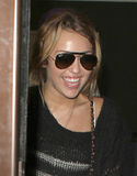 Singer Miley Cyrus is seen at LAX Stock Image