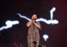 Singer Monatik performs live at Atlas Weekend in Kiev, Ukraine. Royalty Free Stock Images