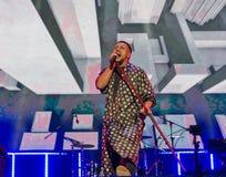 Singer Monatik performs live at Atlas Weekend in Kiev, Ukraine. Royalty Free Stock Photography