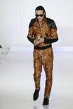 A singer at Nina Athanasiou Runway at Mercedes-Benz Fashion Week Fall 2015 Stock Image