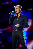 Singer Oleg Gazmanov performs on stage Stock Image