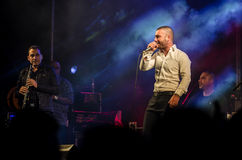 Singer Omer Adam performs Royalty Free Stock Image