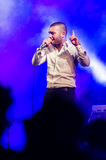 Singer Omer Adam performs Stock Photography