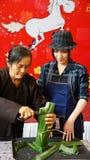 Singer Phi Nhung make traditional food Royalty Free Stock Photos