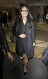 Singer Pia Toscano at LAX airport Stock Photos