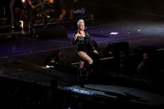 Singer Pink performs onstage. SYDNEY - JUNE 7: Singer Pink performs onstage at Sydney Entertainment Centre June 7, 2007 in Sydney, Australia Stock Image