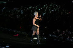 Singer Pink performs onstage Stock Photos