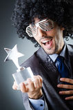 Singer receiving star prize Stock Photography