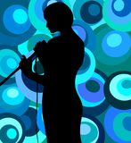 Singer On Retro Background Royalty Free Stock Images