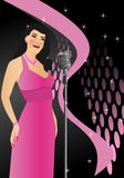 Singer in retro style, cdr vector Stock Photography