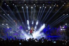 Singer Sakis Rouvas performing at MAD North Stage festival Stock Images