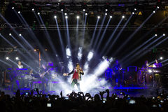 Singer Sakis Rouvas performing at MAD North Stage festival Stock Image