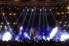 Singer Sakis Rouvas performing at MAD North Stage festival Stock Photography