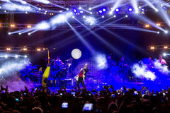 Singer Sakis Rouvas performing at MAD North Stage festival Royalty Free Stock Photo