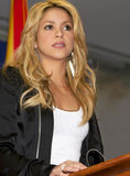 Singer Shakira Comments on New Arizona Immigration Royalty Free Stock Photography