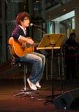 Singer-Song Writer Performing Stock Image