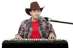 Singer and songwriter of western songs Royalty Free Stock Photos