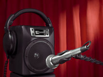 Singer speaker Royalty Free Stock Photos