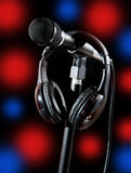 Singer Stage Microphone Royalty Free Stock Images