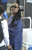 Singer Stevie Wonder is seen at LAX Royalty Free Stock Photography