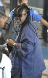 Singer Stevie Wonder is seen at LAX Stock Photography