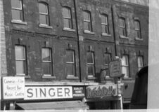 Singer store, Belleville circa 1970 Stock Image