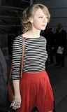 Singer Taylor Swift is seen at LAX airport Stock Photos