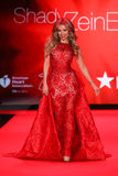 Singer Thalia walks the runway at the Go Red For Women Red Dress Collection 2015 Stock Images