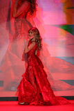 Singer Thalia walks the runway at the Go Red For Women Red Dress Collection 2015 Stock Photo