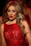 Singer Thalia walks the runway at the Go Red For Women Red Dress Collection 2015 Royalty Free Stock Photography