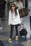 Singer Willow Smith at LAX airport. LOS ANGELES-APRIL 8: Famous sibling daughter of actor Will Smith singer Willow Smith at LAX airport. April 8 in Los Angeles Royalty Free Stock Photos