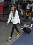 Singer Willow Smith at LAX airport, california Stock Images