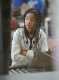 Singer Willow Smith at LAX airport, california Royalty Free Stock Images