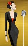 Singer woman Royalty Free Stock Image