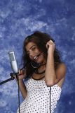 Singer woman Stock Photography