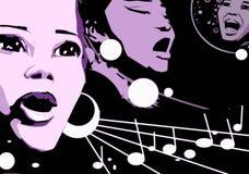 Free Singer Woman Music Jazz Blues Comics Cartoon Royalty Free Stock Photography - 7526597